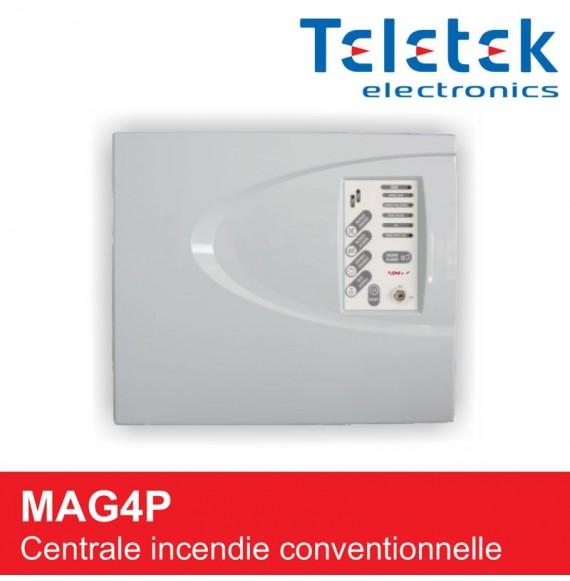 Centrale incendie 4 zones conventionnelle MAG4P Teletek